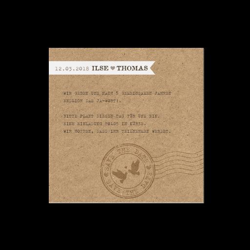 """Save the Date""-Karte (4 Stück) - EX 726520"