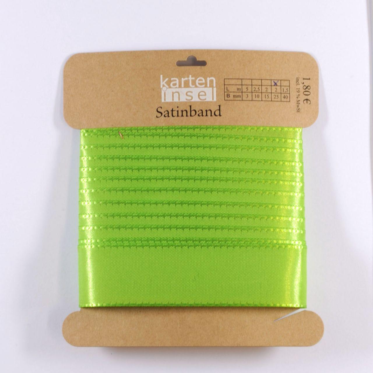 Satinband grün - 25 mm - 2 m
