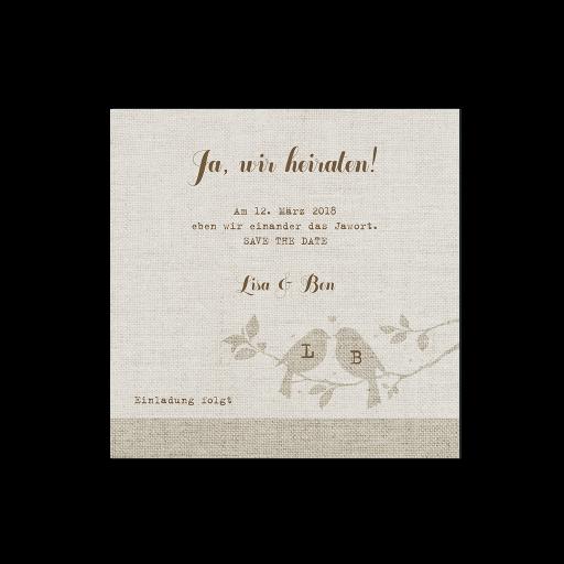 """Save the Date""-Karte (4 Stück) - EX 726516"