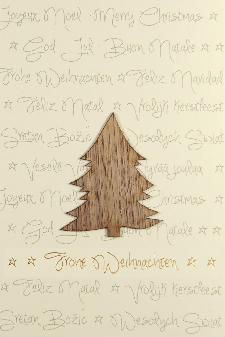 Holz Weihnachtskarten.Weihnachtskarte Fw 17942