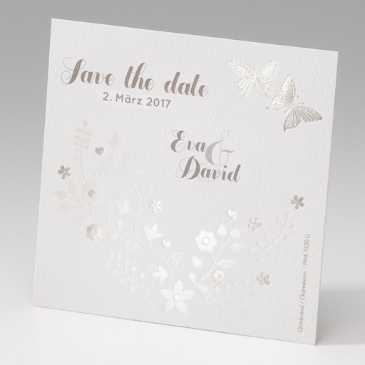"""Save the Date""-Karte (4 Stück) - EX 725508"