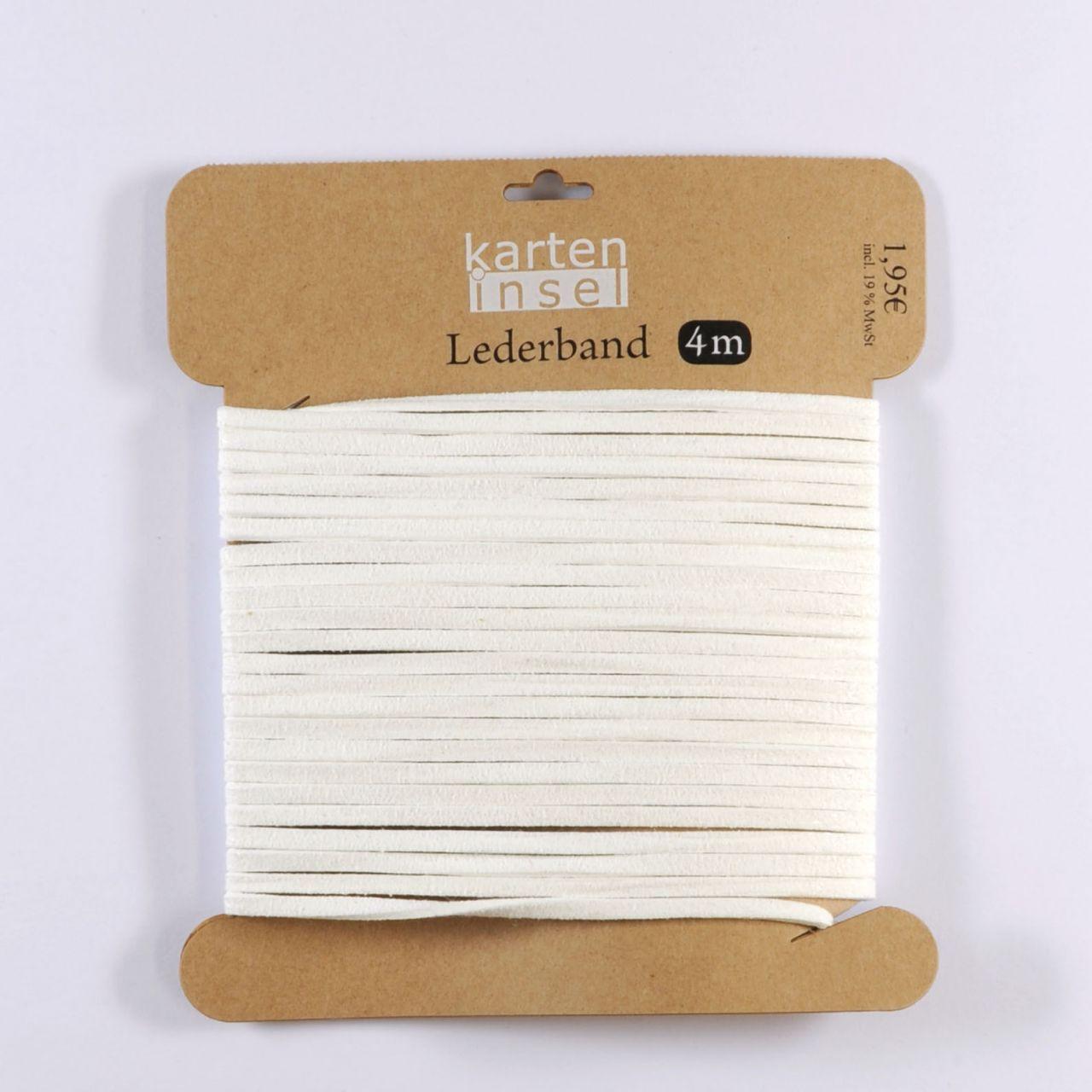 Lederband weiß - 4 m