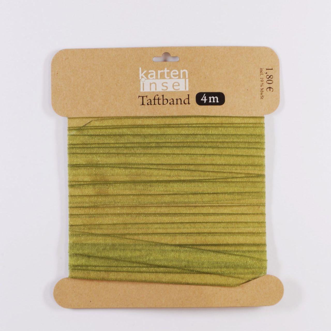 Taftband grün - 10 mm - 4 m