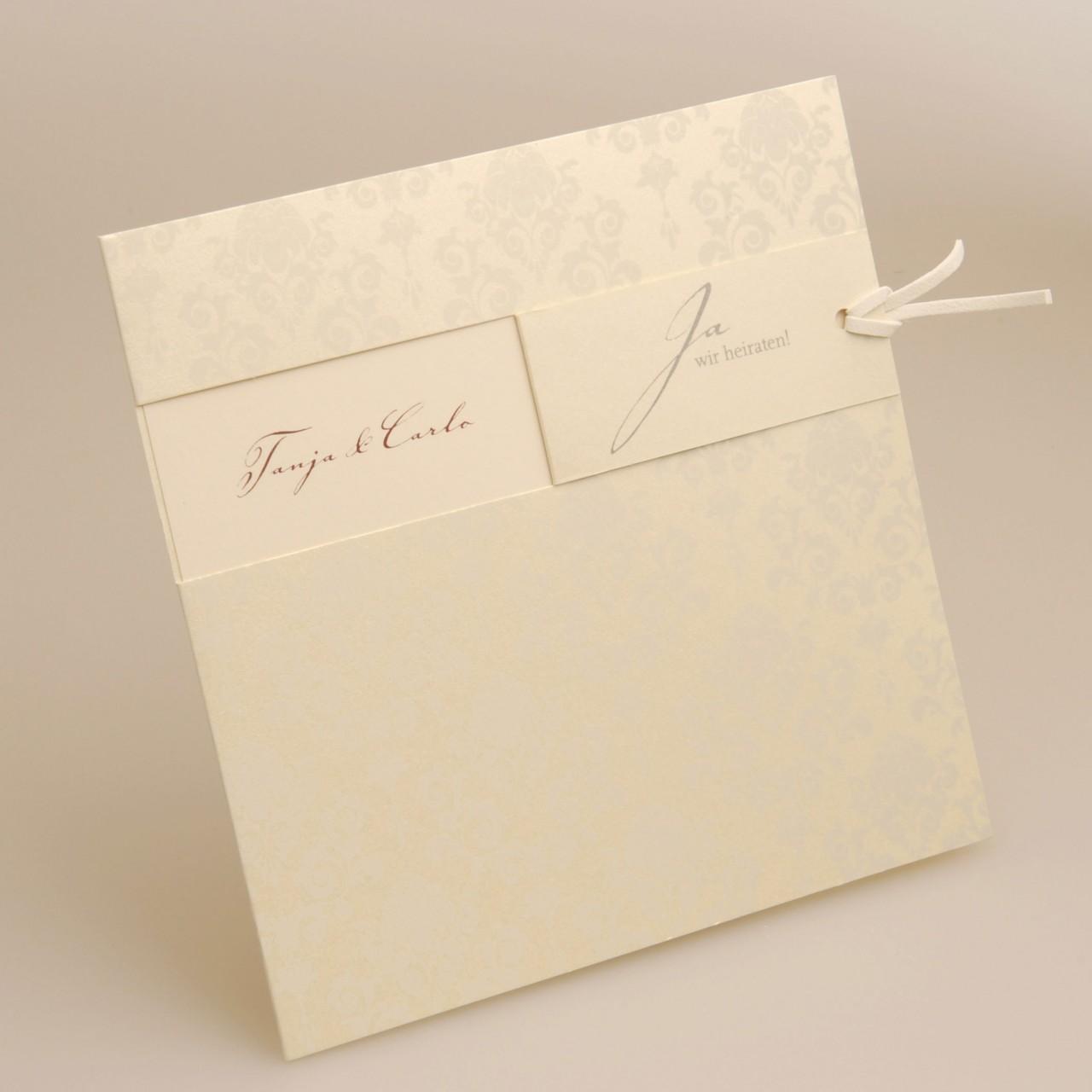 Einladungskarte - H 1838