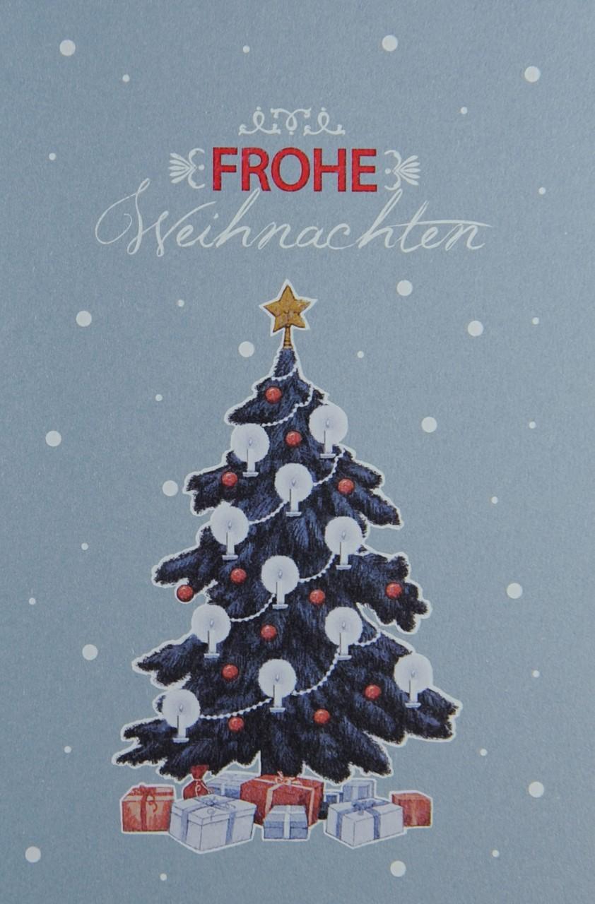 Hochwertige Weihnachtskarten.Weihnachtskarte Fw 17951