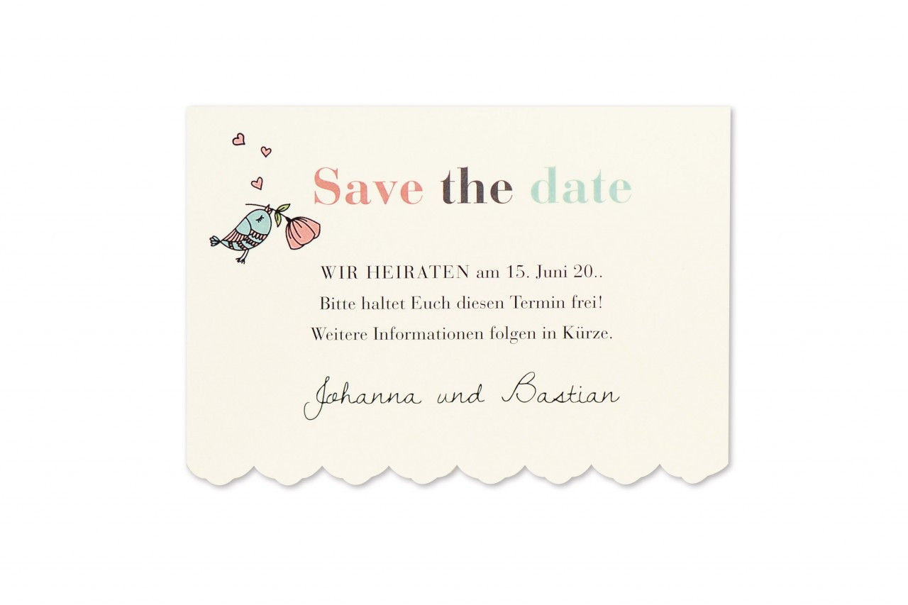 Save the Date Karte - 17S507