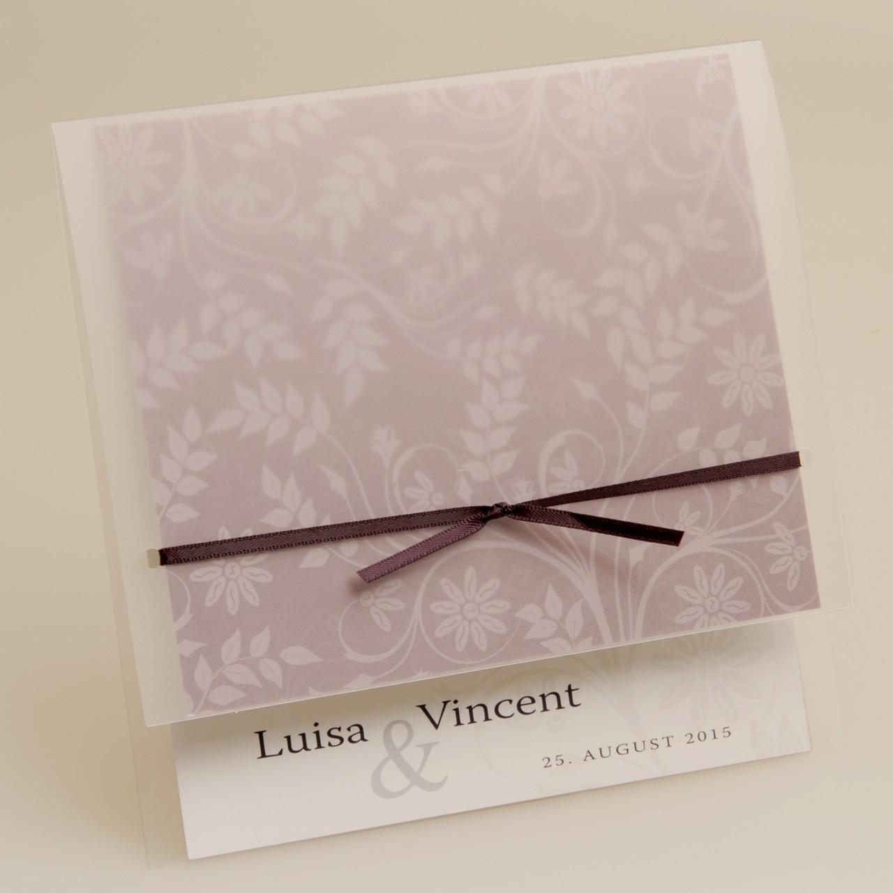 Einladungskarte - H 1832