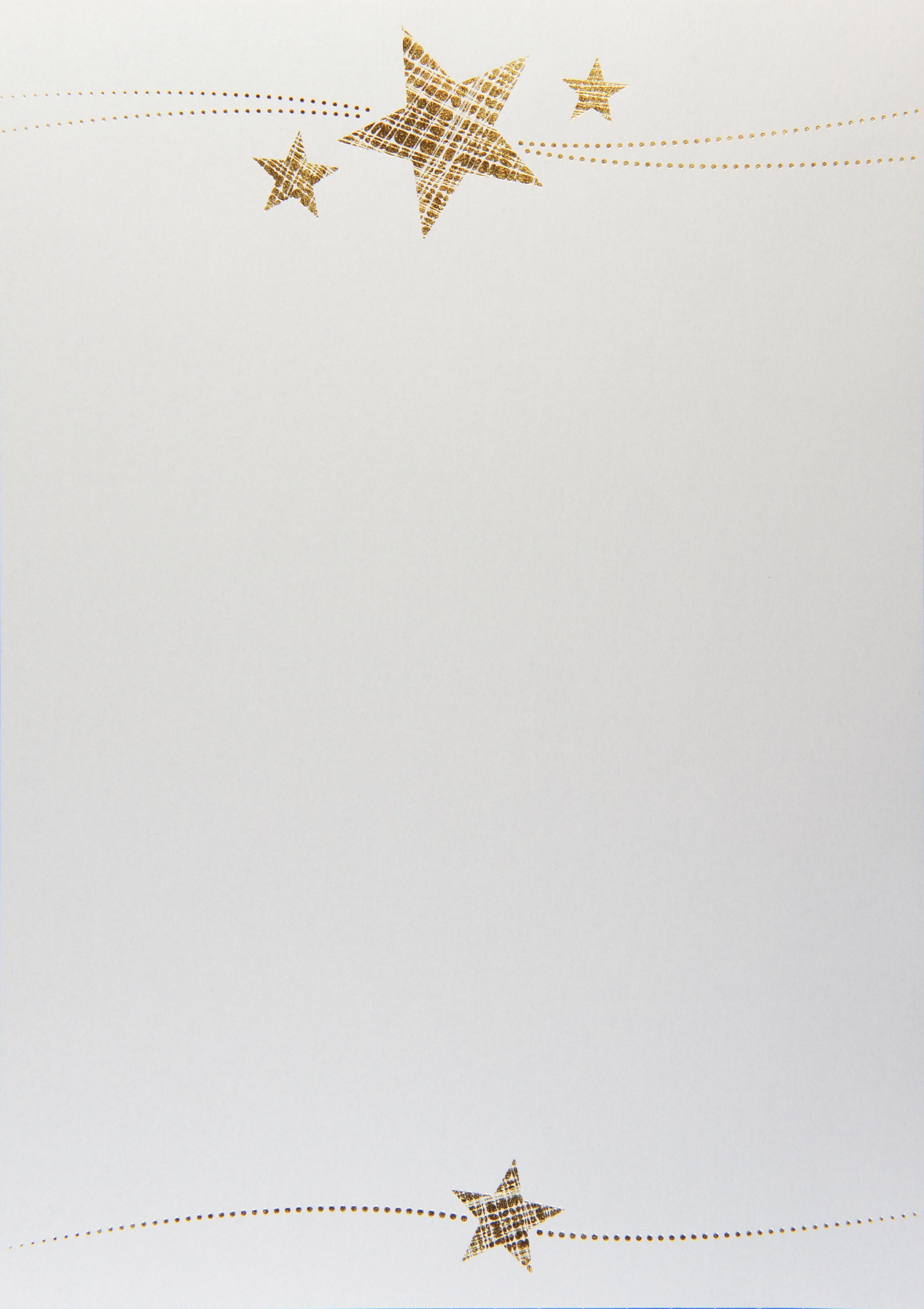 Weihnachts-Briefpapier Sterne für individuelle Grüße und Gedanken ...
