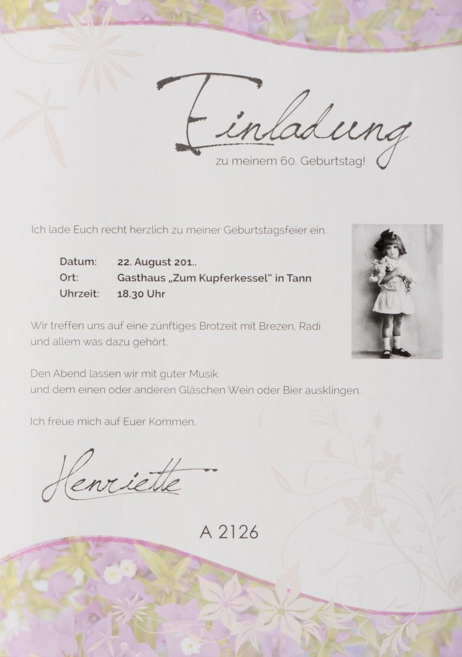 Einladungsbrief - A 2126