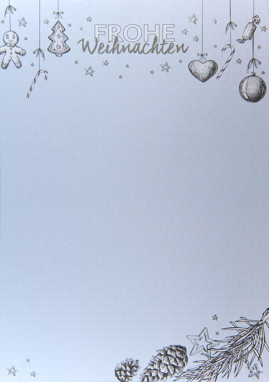 Weihnachtsbogen hellblau mit dezenten weißen Punkten im Hintergrund ...