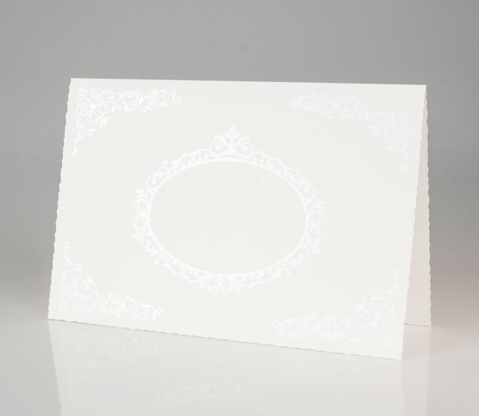 Elegante Einladungskarte mit Ornamenten