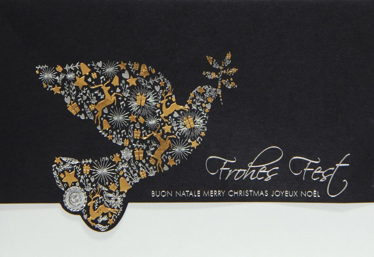 Edle Weihnachtskarten.Weihnachtskarte Fw 15936