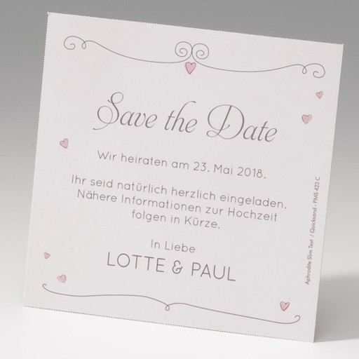 """Save the Date""-Karte (4 Stück) - EX 725599"