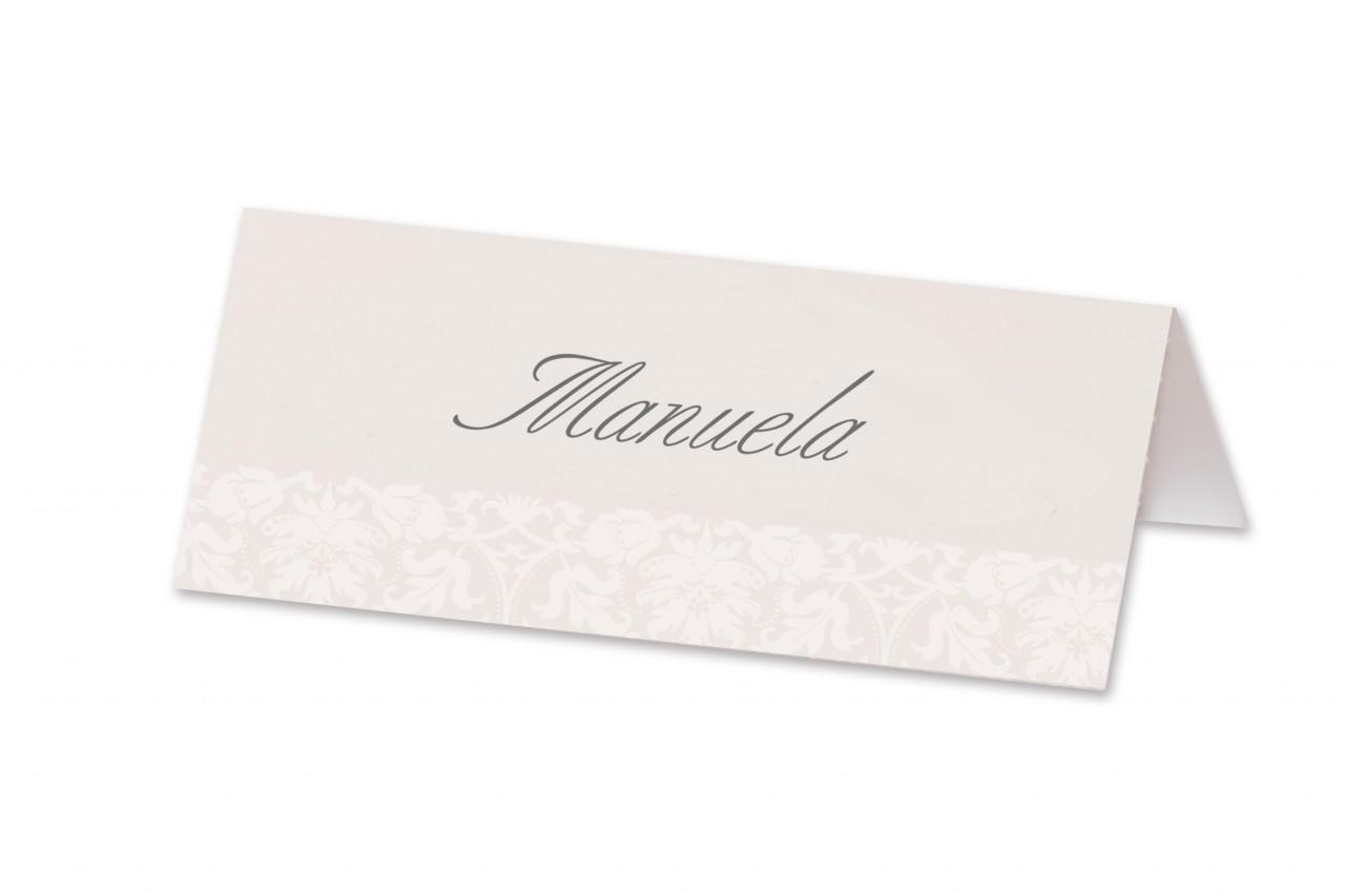 Die Tischkarte Elegant ist mit sehr zurückhaltendem Design das MustHave um dem aufwendig gedeckten Hochzeitstischen den letzten Schliff zu verleihen.
