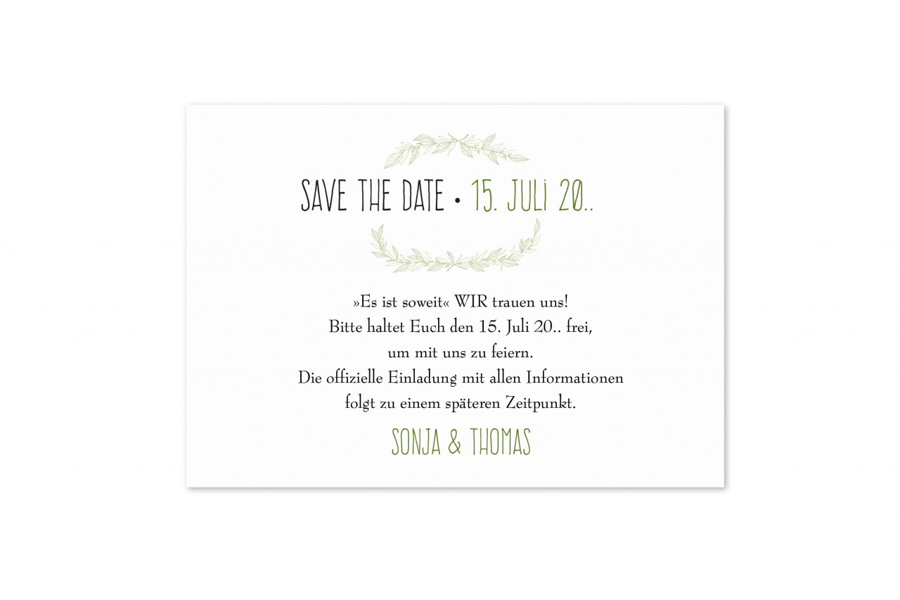 Save the Date Karte - 17S523