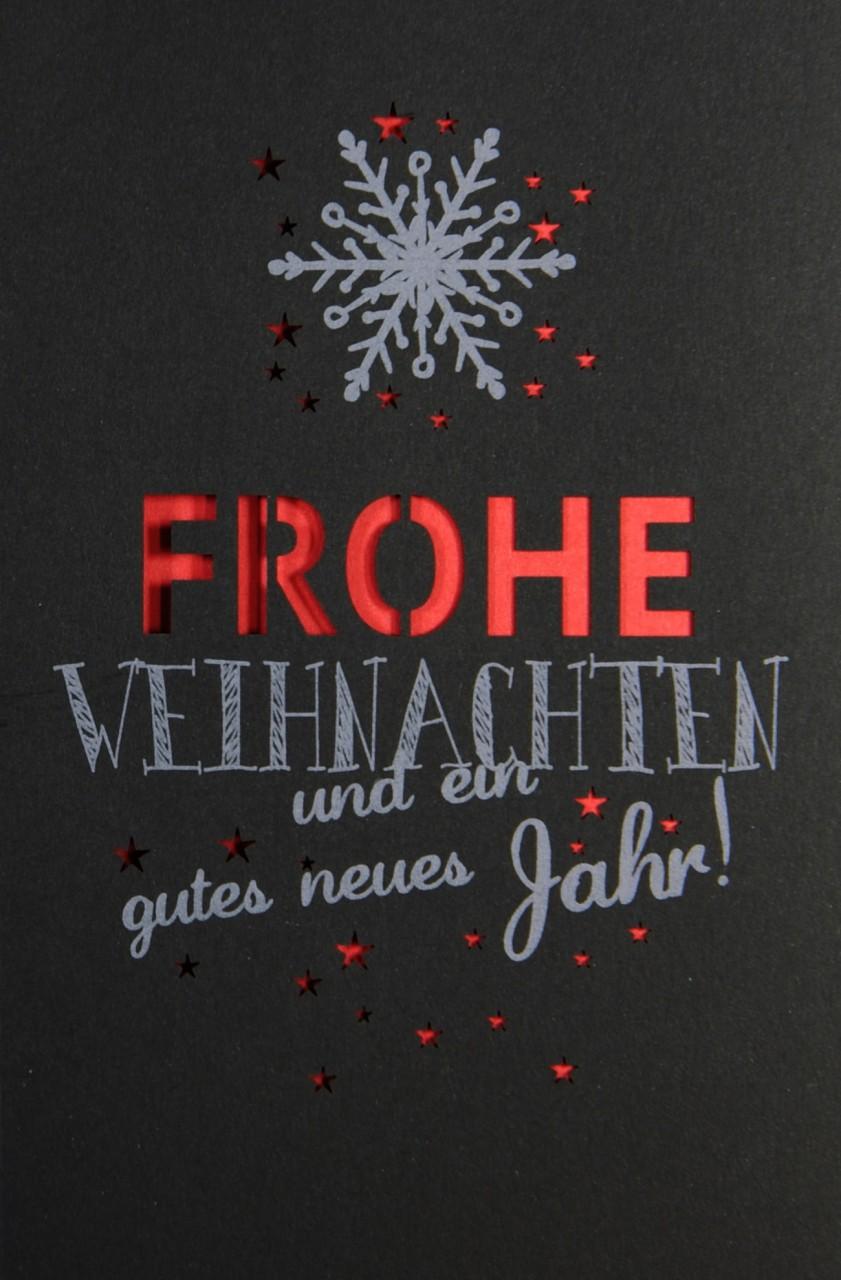 Schlicht, edel aber doch mit Kontrast - Weihnachtskarte schwarz ...