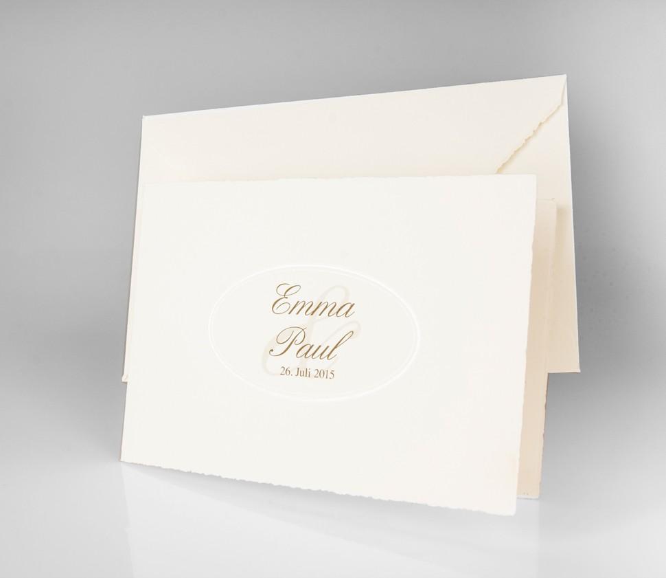 Schlichte Einladungskarte mit Büttenrand