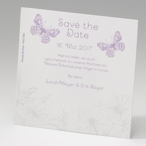 """Save the Date""-Karte (4 Stück) - EX 725509"
