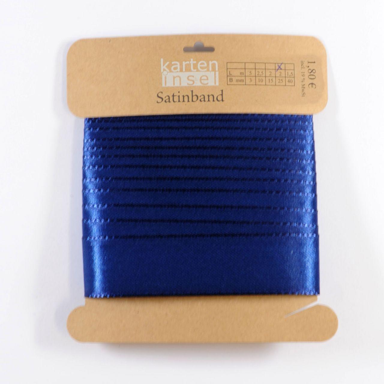 Satinband dunkelblau - 25 mm - 2 m