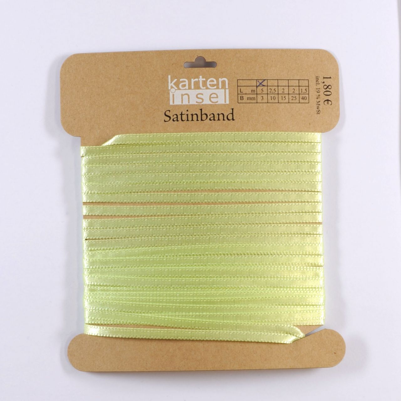Satinband mint - 3 mm - 5 m