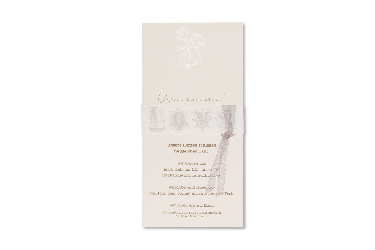 Einladungskarte - 17H163