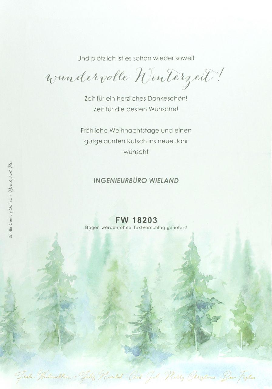 Weihnachtsbogen - FW 18203