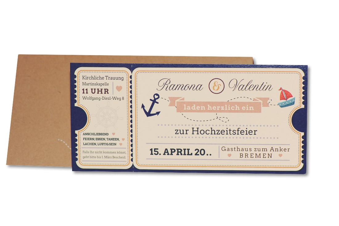 Einladungskarte 17h129