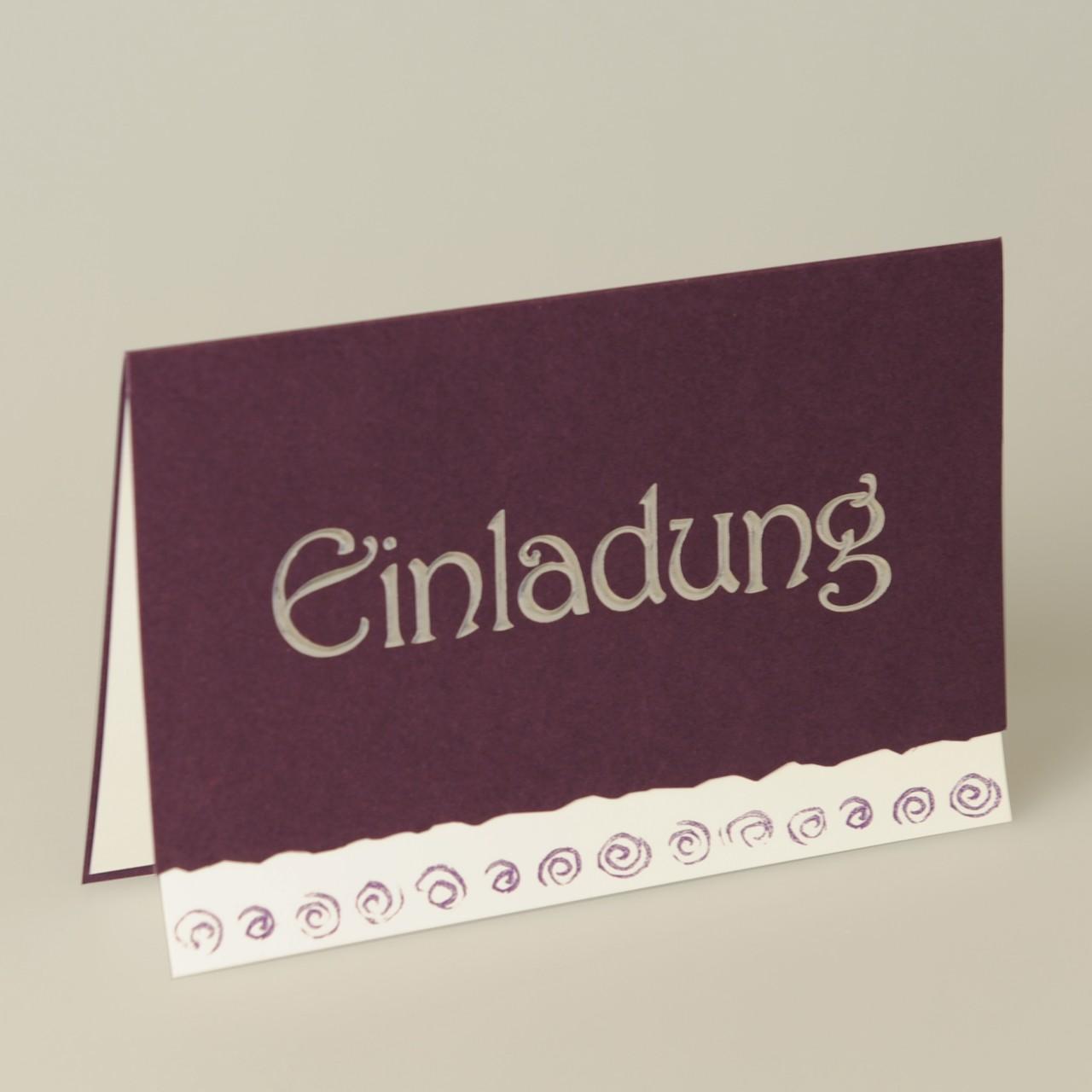 Einladungskarte - H 1994