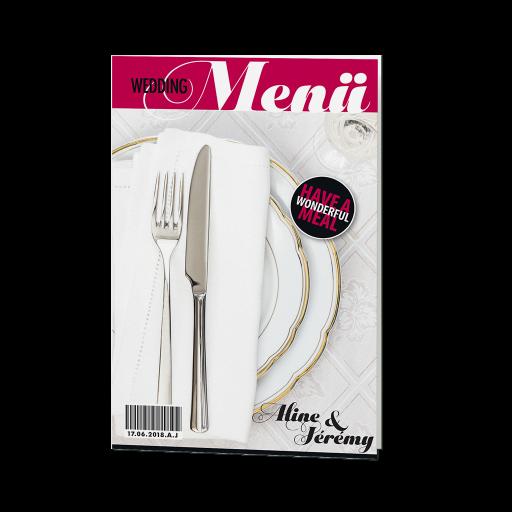 Glänzende Menükarte im Magazin-Style