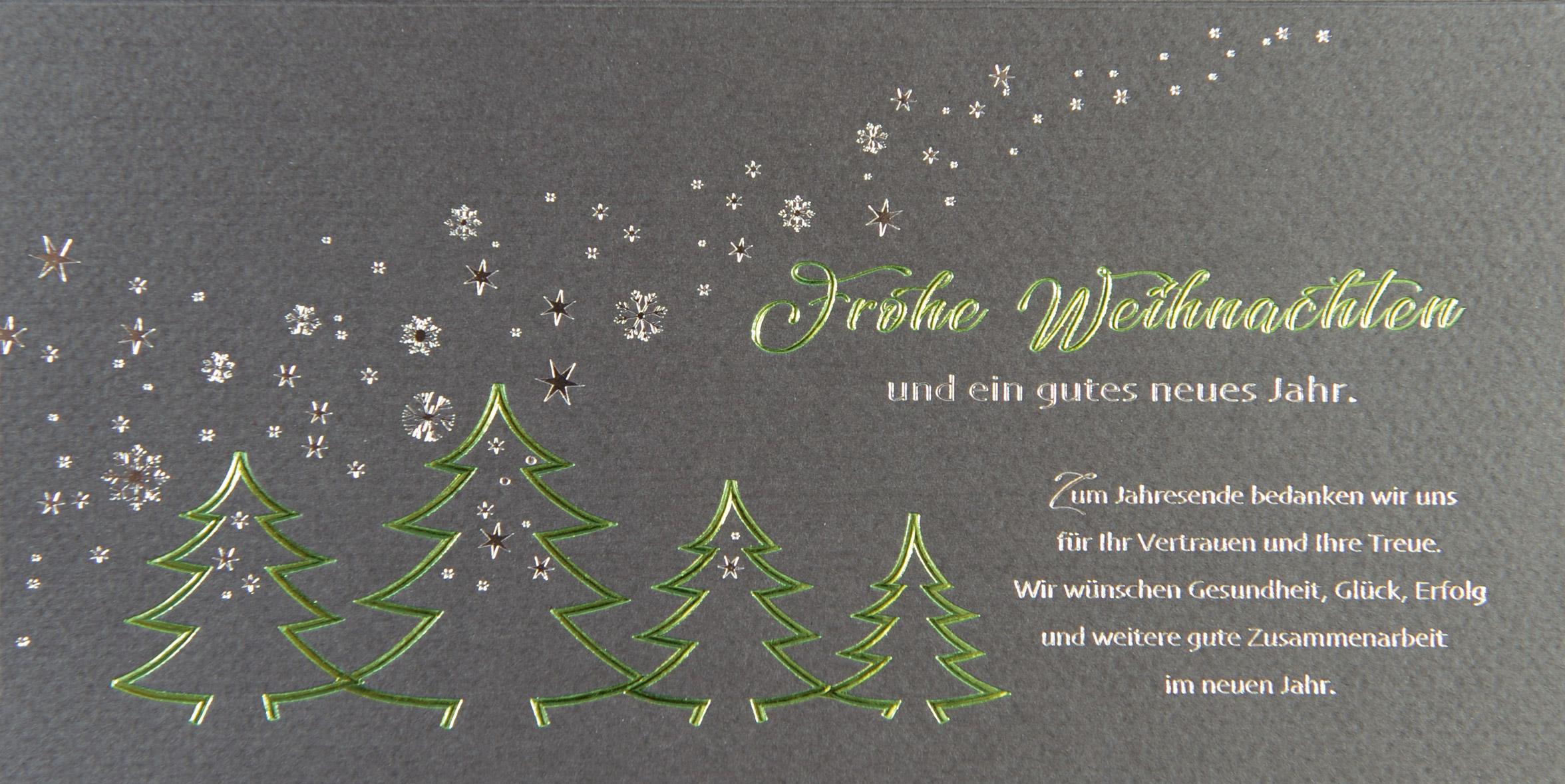 graue weihnachtskarte mit gr en an ihre gesch ftskunden. Black Bedroom Furniture Sets. Home Design Ideas