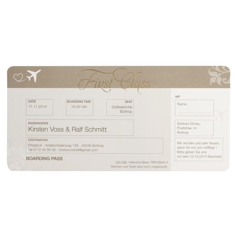 Einladungskarte - BÜ 104.099