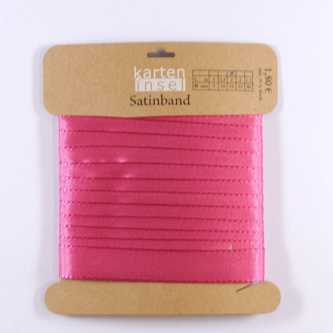 Satinband pink - 15 mm - 2 m