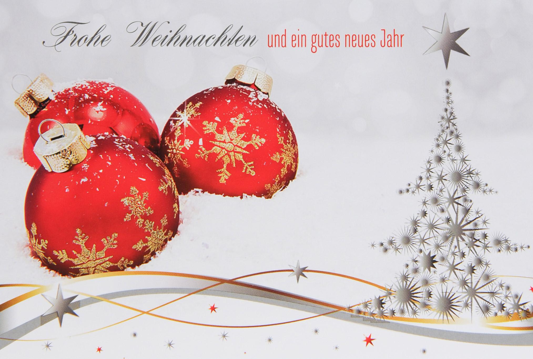 Weihnachtsgrüße Klassisch.Weihnachtskarte Fw 14739