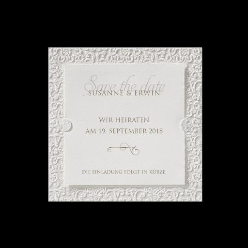 """Save the Date""-Karte (4 Stück) - EX 726558"