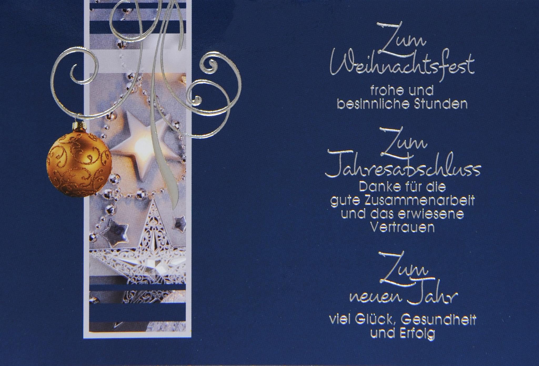 weihnachtskarte f r gesch ftspartner in edlem klassischem design karteninsel