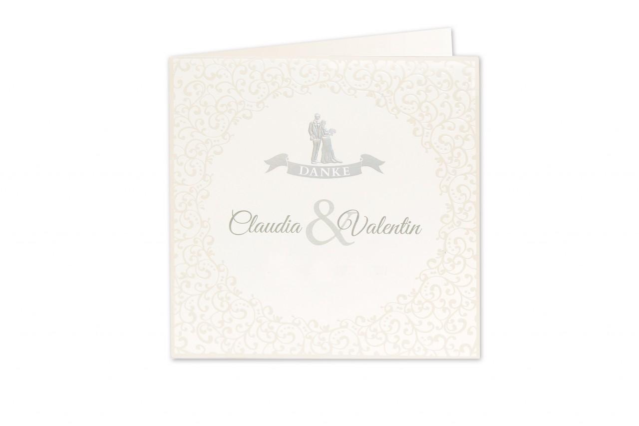 Mit der Dankkarte Brautpaar gemeinsam in die gleiche Richtung blicken und sich respektvoll für die vielen Aufmerksamkeiten bedanken. Jetzt bestellen.