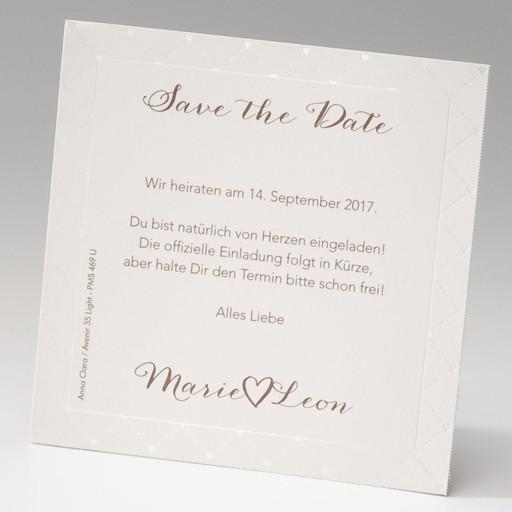 """Save the Date""-Karte (4 Stück) - EX 725504"