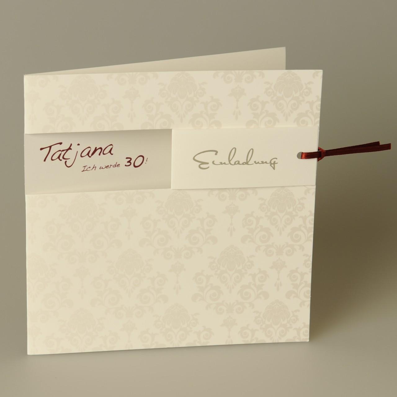 Einladungskarte - A 2002