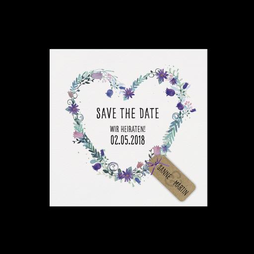 """Save the Date""-Karte (4 Stück) - EX 726537"