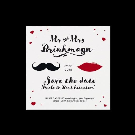 """Save the Date""-Karte (4 Stück) - EX 726511"
