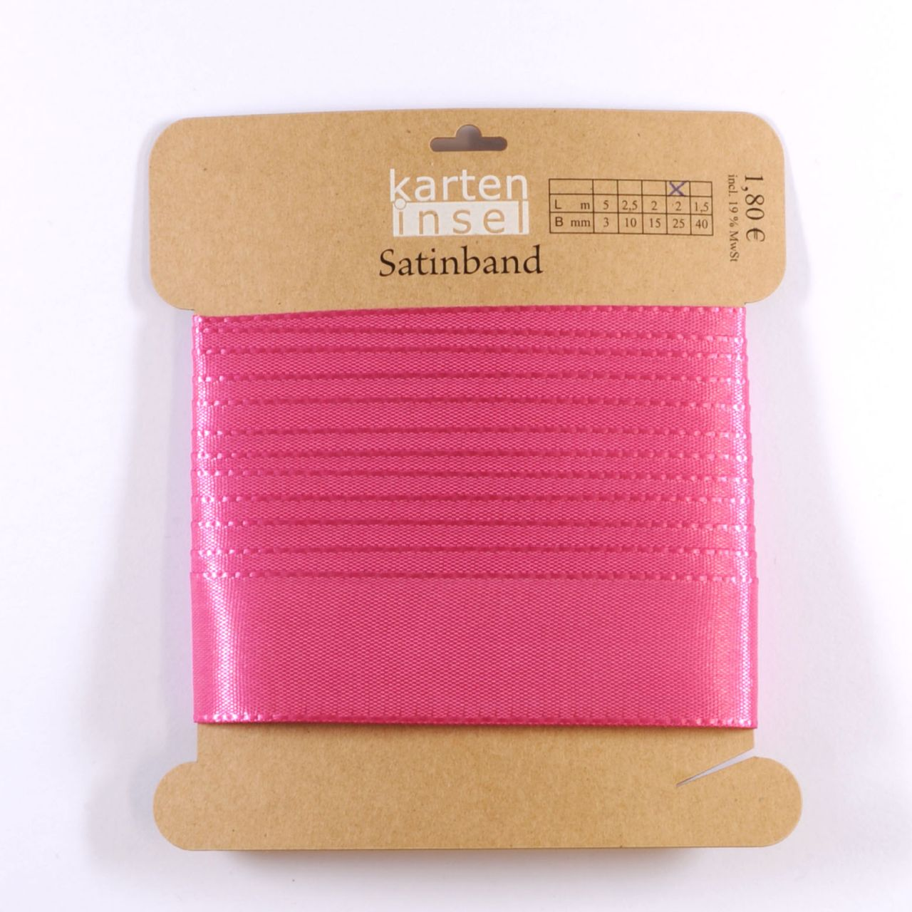 Satinband pink - 25 mm - 2 m