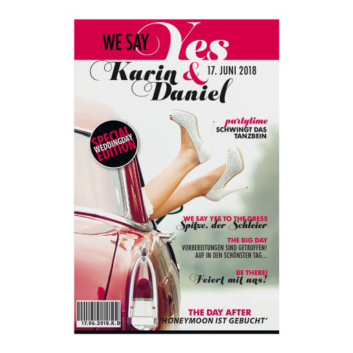 Einladungskarte im Magazin-Style
