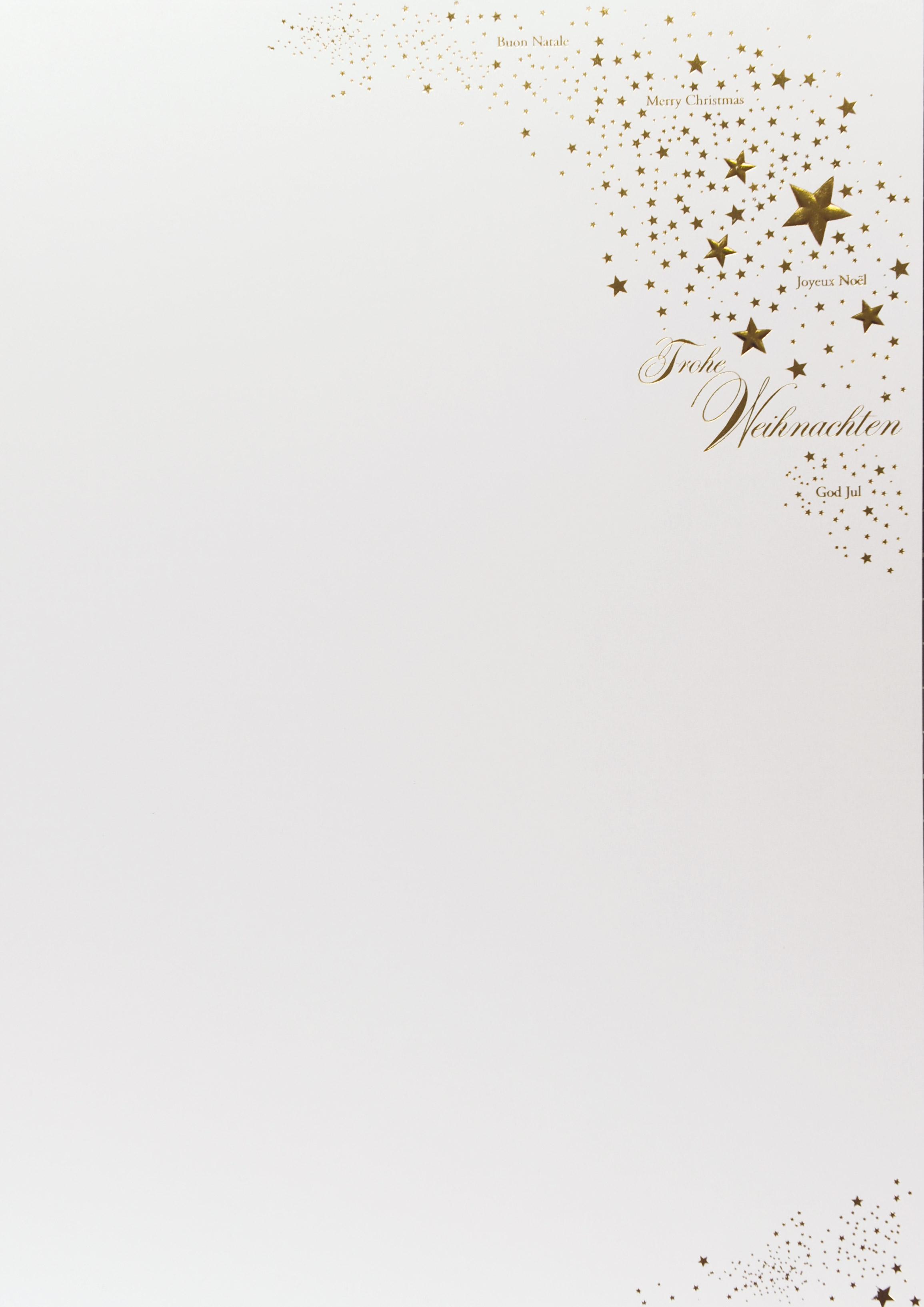 Weihnachtsbogen mit goldenen Sternen   Karteninsel