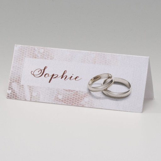 Glänzende Tischkarte mit Ringen