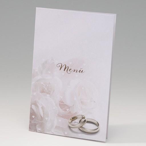 Glänzende Menükarte Ringe